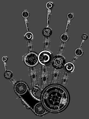 Art illustration of human hand
