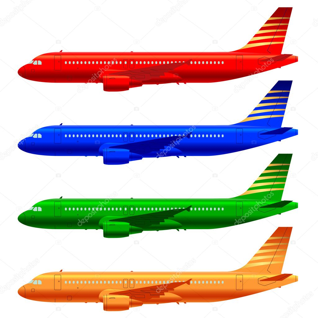 Airplane drawing template | Boeing aircraft template — Stock