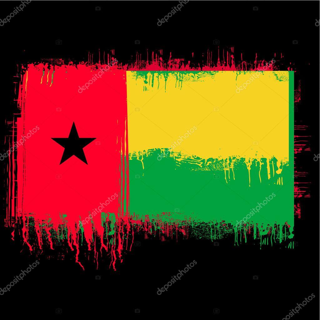 ギニアビサウの国旗 — ストック...
