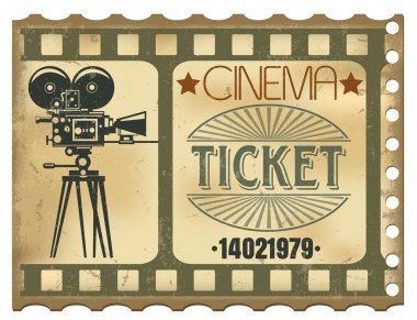 The vector image of a Ticket in cinema stock vector