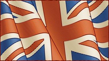 Vintage British Flag (close-up)
