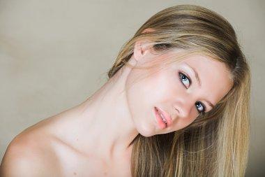 Teenage blond girl