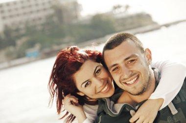 Turkish couple at sea