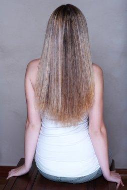 Blond long hair.
