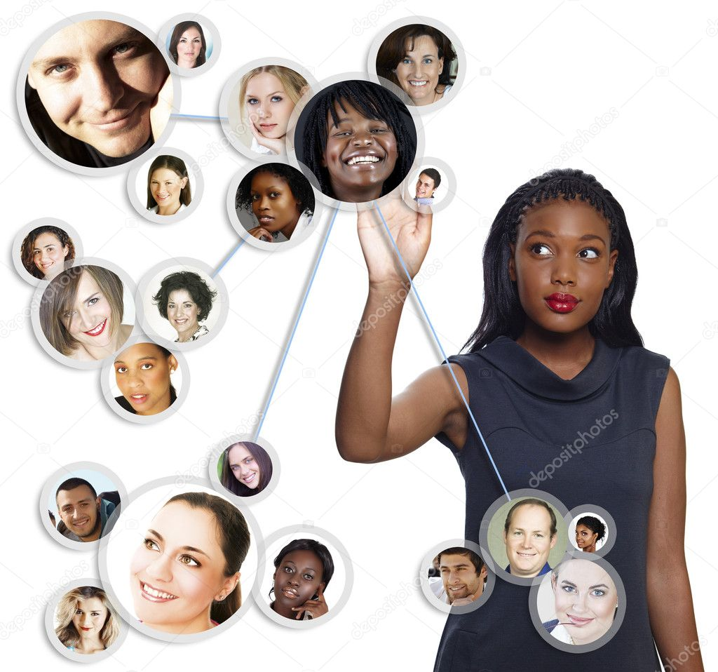 African American businesswoman social network