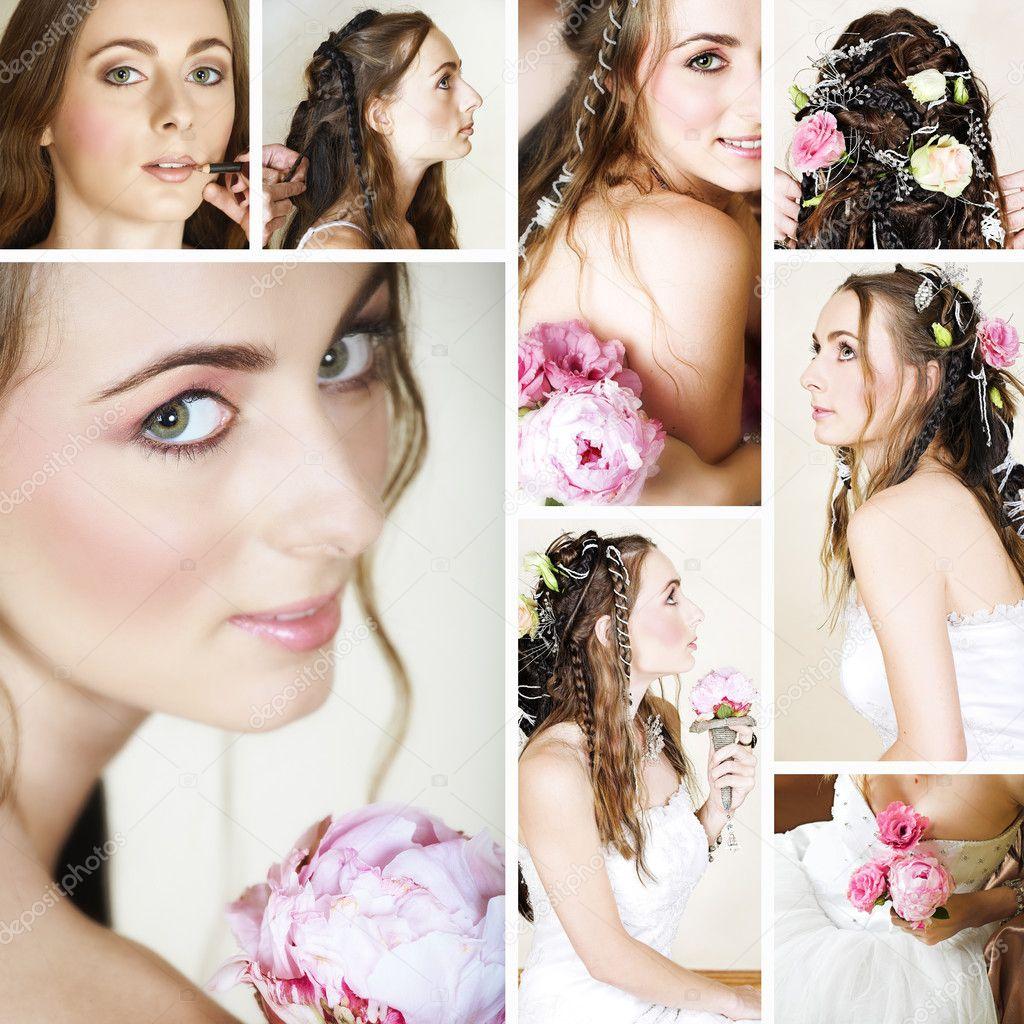 Beautiful bride collage