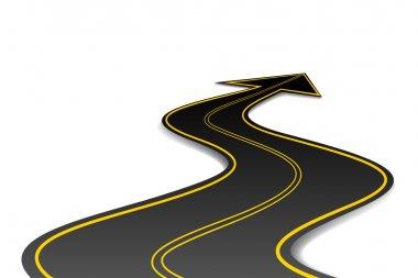 Arrow Shape Road