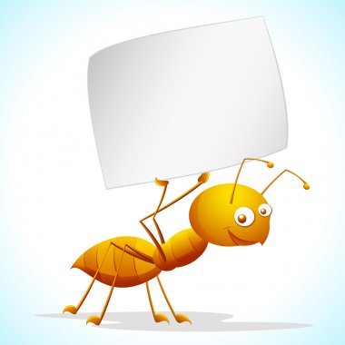 Ant with Placard