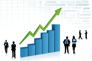 Business aorund Bar Graph