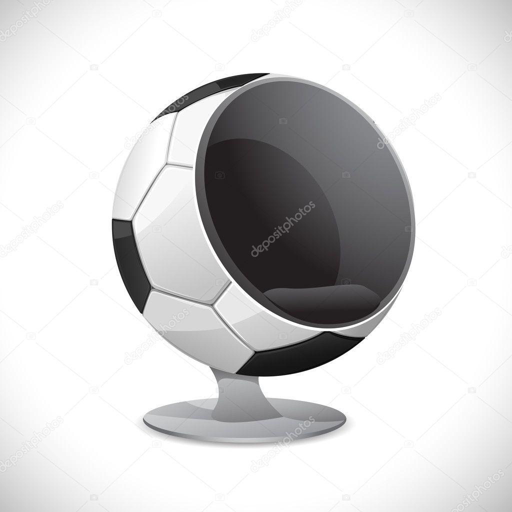 Soccer Ball Chair U2014 Stock Vector #6312180