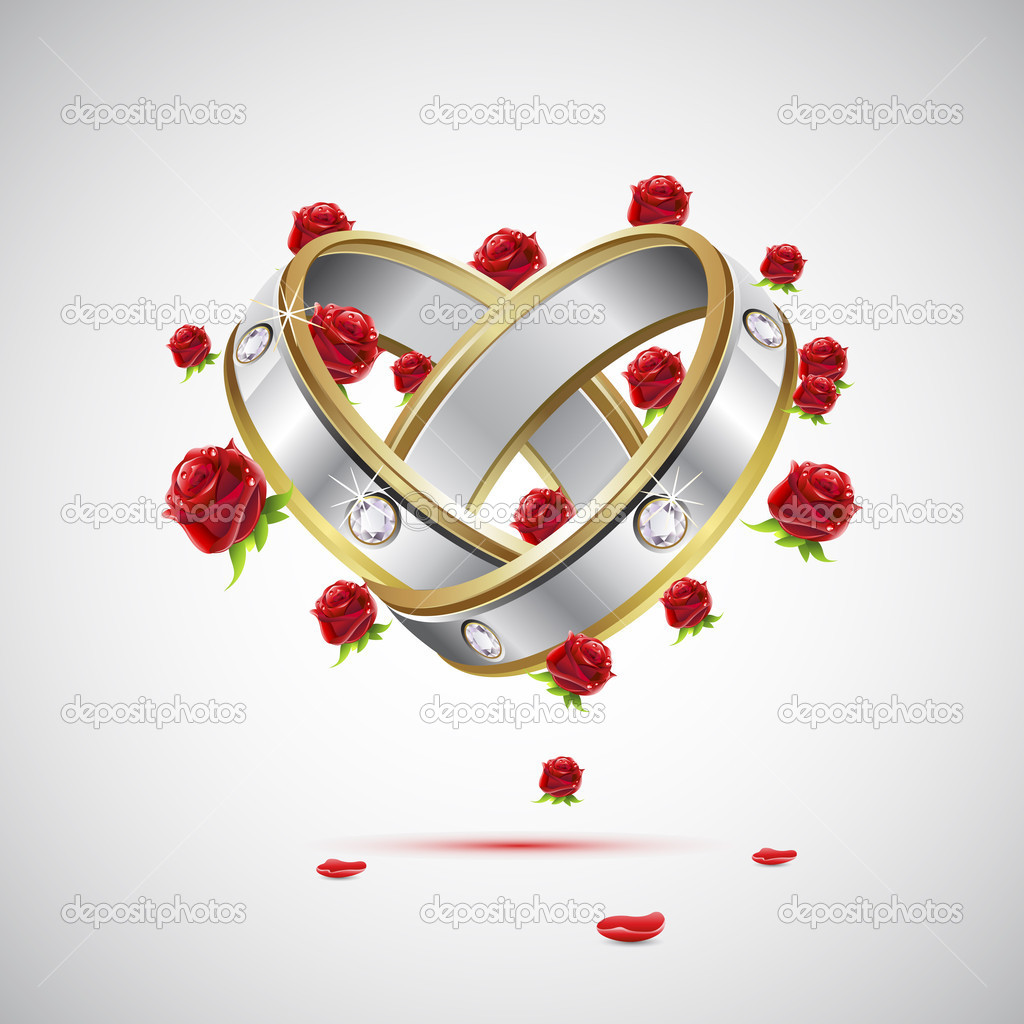 Engagement Rings — Stock Vector © vectomart #6312534