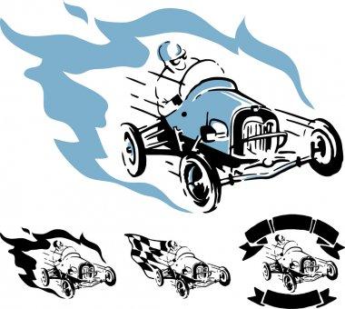 Vector vintage racing car