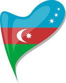 Fényképek Azerbajdzsán jelző szív alakú gomb. vektor