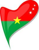 Fényképek Burkina faso szívében. Ikon a burkina faso zászlaja
