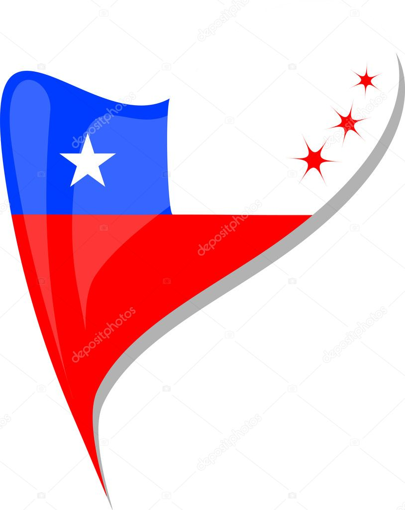 Chile flag button heart shape vector stock vector fotoscool chile flag button heart shape vector icon vector by fotoscool biocorpaavc Images