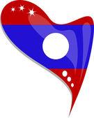 Fényképek Laosz jelző szív alakú gomb. vektor