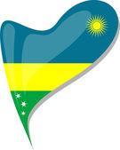 Fényképek Ruanda a szív. A nemzeti zászlót Ruanda ikonra. vektor