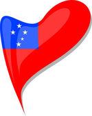 Fényképek Samoa jelző szív alakú gomb. vektor