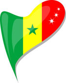 Fényképek Szenegál szívében. A szenegáli nemzeti zászló ikonra. vektor
