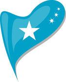Fényképek Szomáli szívében. Szomáli nemzeti zászló ikonra. vektor