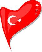 Fényképek Törökország a szív. Törökország nemzeti zászló ikonra. vektor