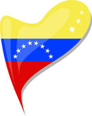 Fényképek Venezuela lobogója a szív alakú gomb. vektor