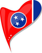 Fényképek Tennessee jelző szív alakú gomb. vektor