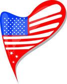 Fényképek USA zászló a szív alakú gomb. vektor