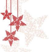 Fotografie červené vánoční hvězda přání