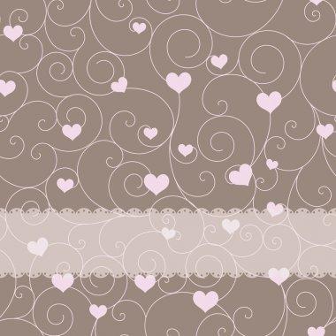 Card design for wedding or valentine