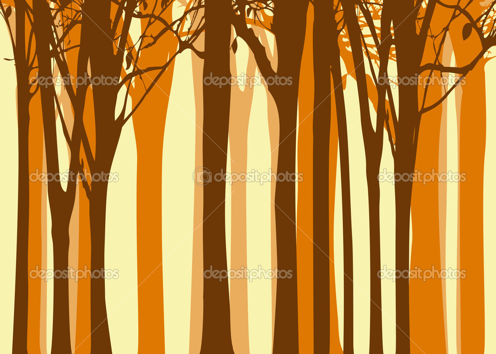 Abstract autumn tree background