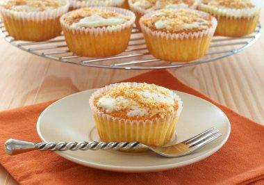 Freshly baked coconut vanilla cupcakes