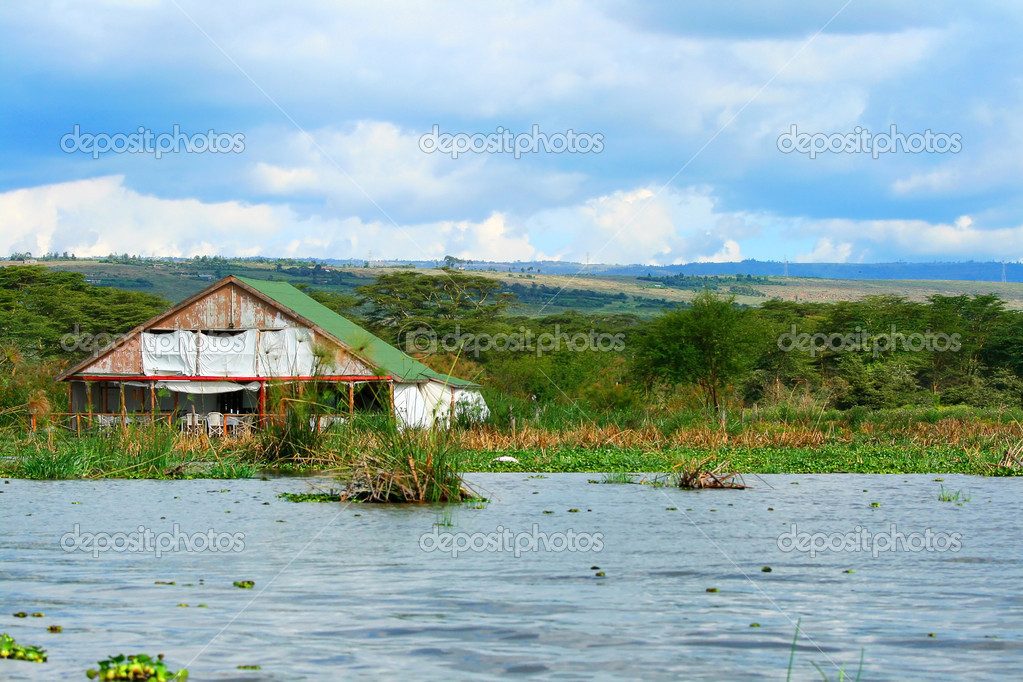 Tourist resort on the lake Naivasha