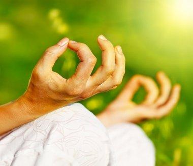 Yoga meditation outdoor