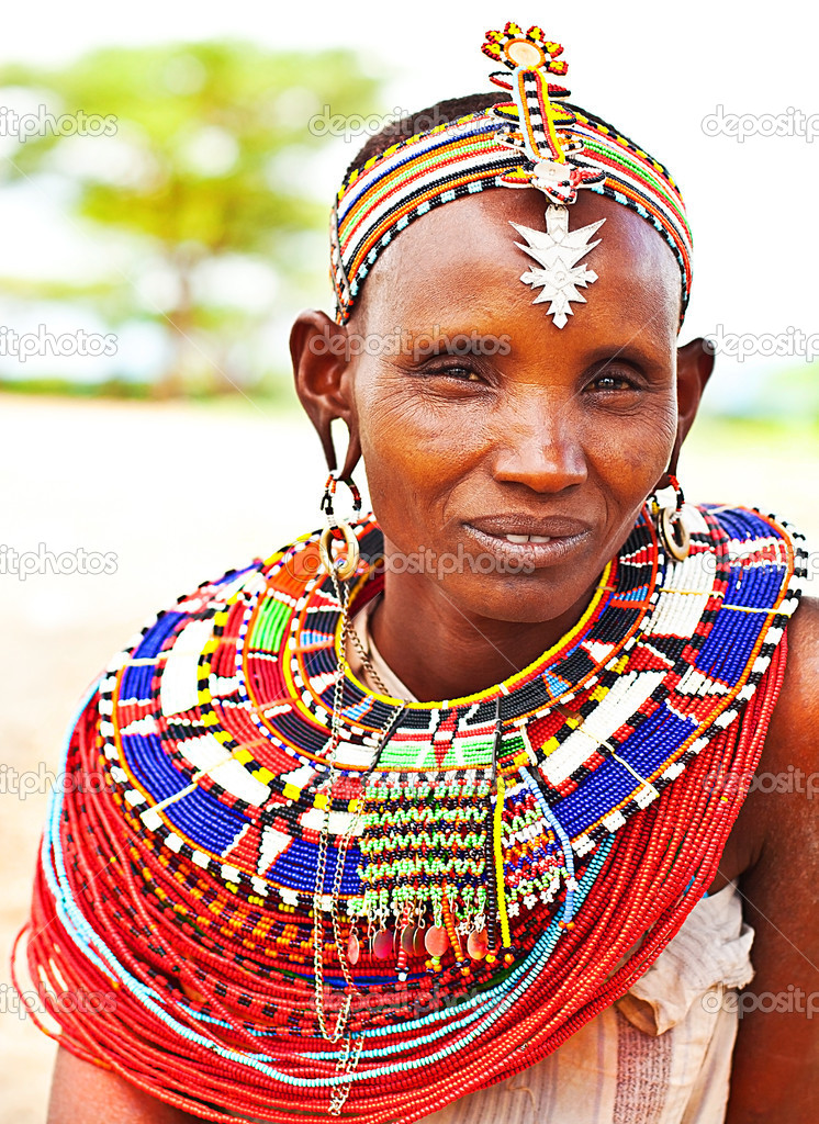 African tribal woman