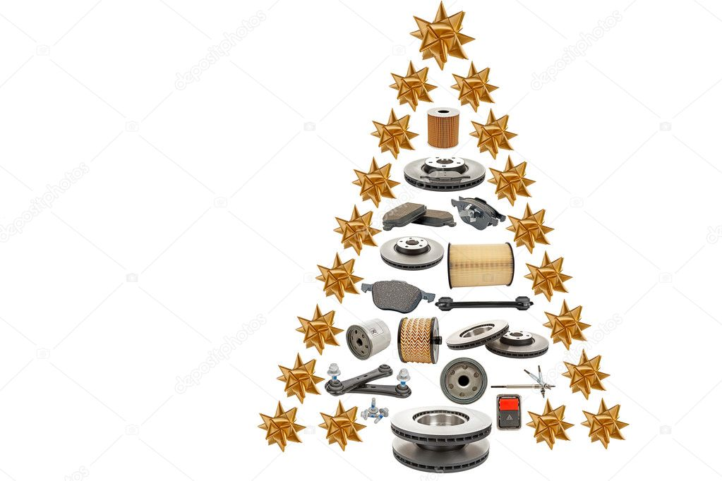 Christmas Tree Producers Part - 39: Christmas Tree For Producers And Sellers Of Automotive Spare Parts U2014 Photo  By Marek_usz