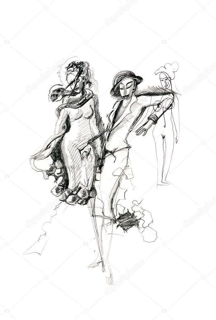 Рисованные плотненькие девушки, тюрьме лесбиянок фото