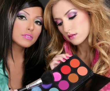 Eyeshadow makeup palette brush fashion barbie girls