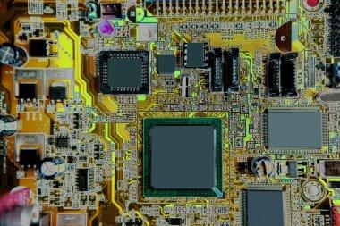 Mainboard computer hardware electronics detail