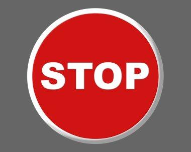Stop traffic red round signal illustration