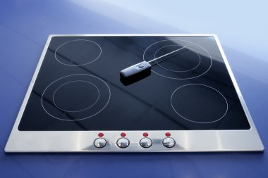 Stove vitroceramic electric kitchen wireless