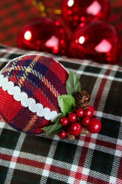 Christmas decoration ball Scottish pattern