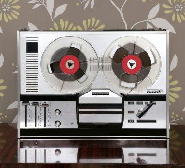 Classic retro reel to reel open 60s vintage music