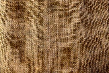 Burlap sack vegetal brown texture background