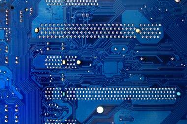 Blue electronics mainboad tech circuit