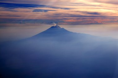 Popocatepetl MEXICO df volcano from sky