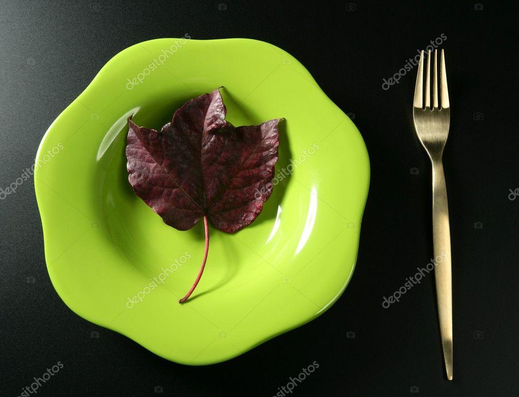metáfora, comida de dieta sana bajas calorías vegetariana colorido ...