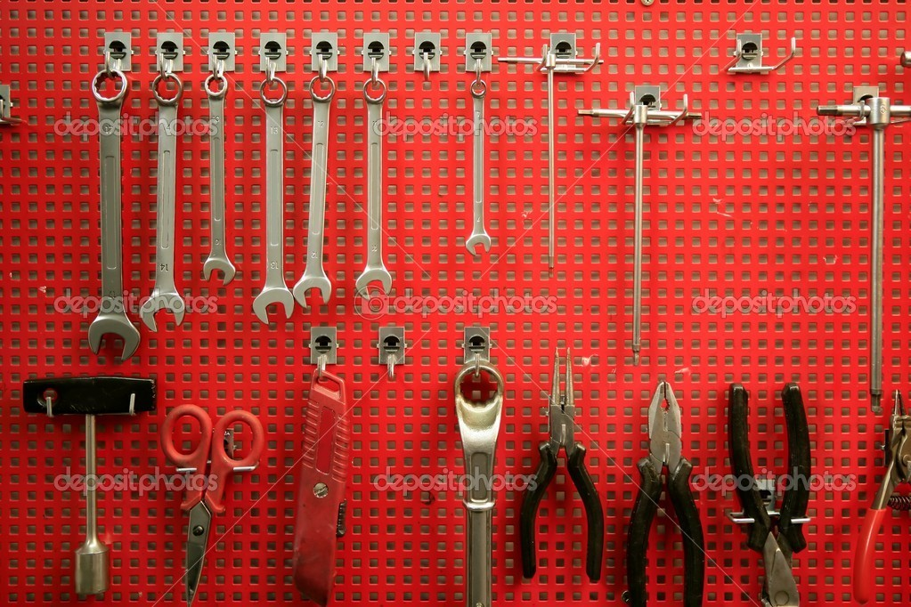 Handtools red metal board to classified tools