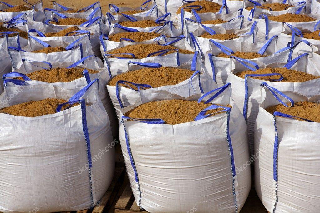 Sandbag white big bag sand sacks quarry