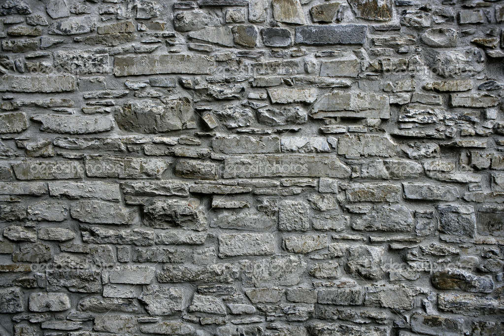 Vintage Stone Walls : Antique grunge old gray stone wall masonry — stock photo